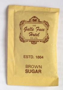 Zucker aus Sri Lanka vom Hotel Galle Face