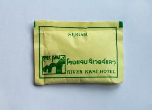 Zucker vom River Kwai Hotel in Kanchanaburi Thailand