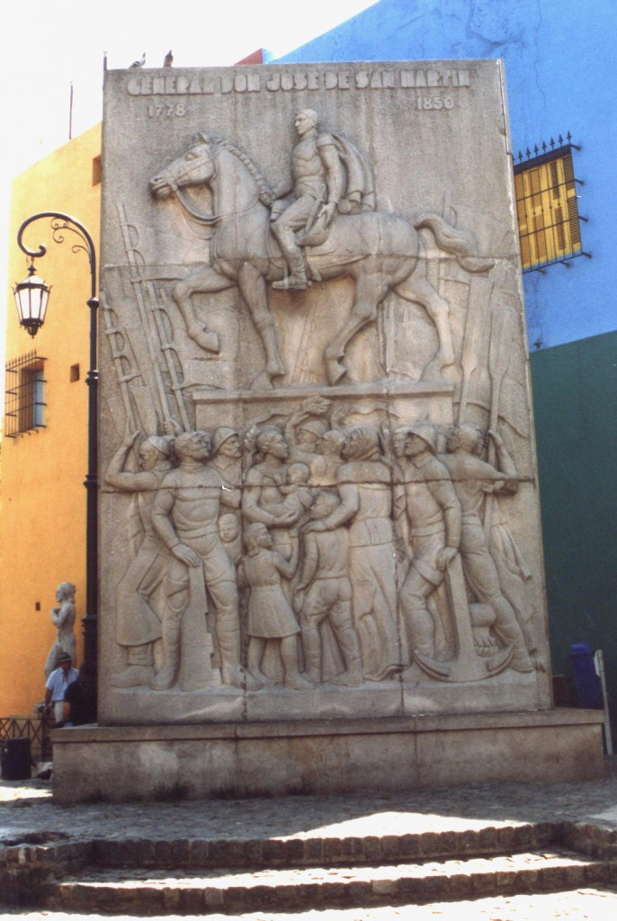 Buenos Aires Denkmal von General Don Jose De Martin