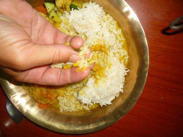Nepal-Essensgewohnheit