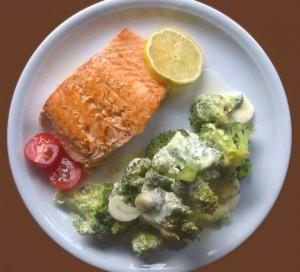 Lachs Svolvaer mit Broccoli