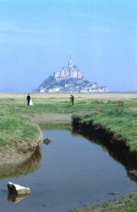 Ja-Wort vor Mont Saint Michel