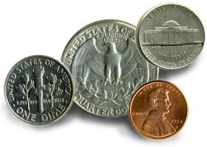US-Dollar Münzen
