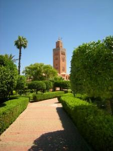 Marrakesch Menara Gärten Minarett Koutoubija Moschee