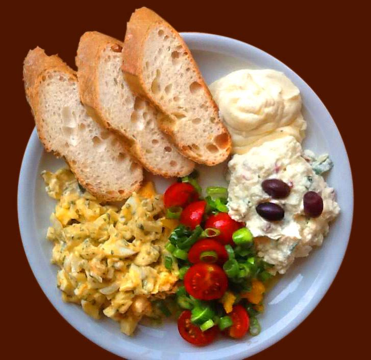 Türkischer Eiersalat, Zatziki und Aioli
