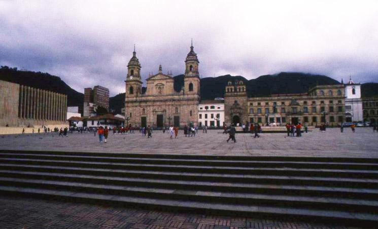 Kolombien-Bogota-Bolivar-Square