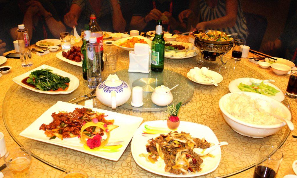 Runder Tisch in chin. Restauran