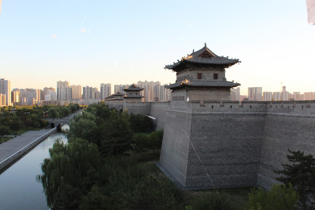 Datong City Wall und modernes Datong