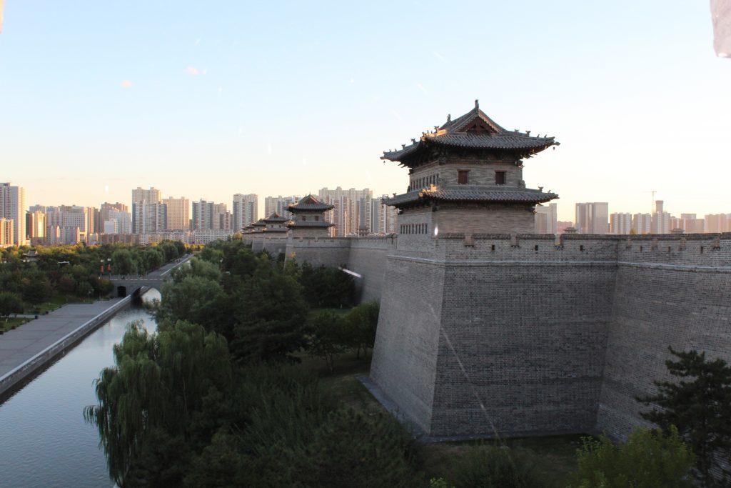 Datong City Wall und modernes Datong